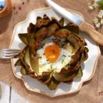 Артишок с яйце на фурна 150x150 Ястия без месо