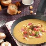 Гъбена крем супа с патешко филе и орехи 150x150 Супи
