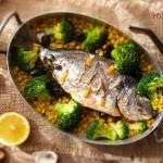 Дорада с маслини и мащерка 150x150 Рибни ястия