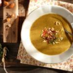 Крем супа от печени зеленчуци и бекон 2 150x150 Супи