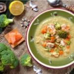 Крем супа с броколи и сьомга 150x150 Супи