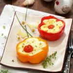 Пълнени чушки с яйца и сирене3 150x150 Meatless dishes