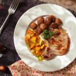 Пържола под вестник с кестени и брюква 2 150x150 Ястия с месо и колбаси