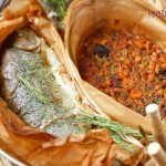 Сьомгова пъстърва с боб на фурна 150x150 Рибни ястия