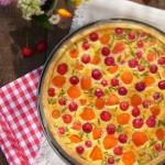 Киш с вишни кайсии и топено сирене 150x150 Баници, кишове и кейкове