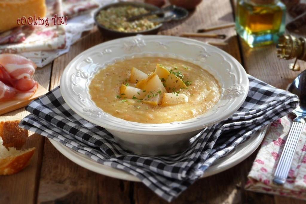 Крем супа с маниока круша и бяло вино 1024x684 Manioc, pear and white wine soup