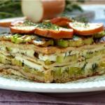 Палачинкова лазаня с тиквички и топено сирене3 150x150 Pizza, polenta and pasta