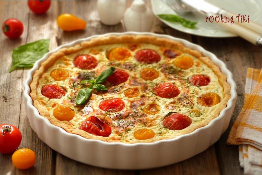 Тарт с чери доматчета 1024x684 Тарт с чери доматчета