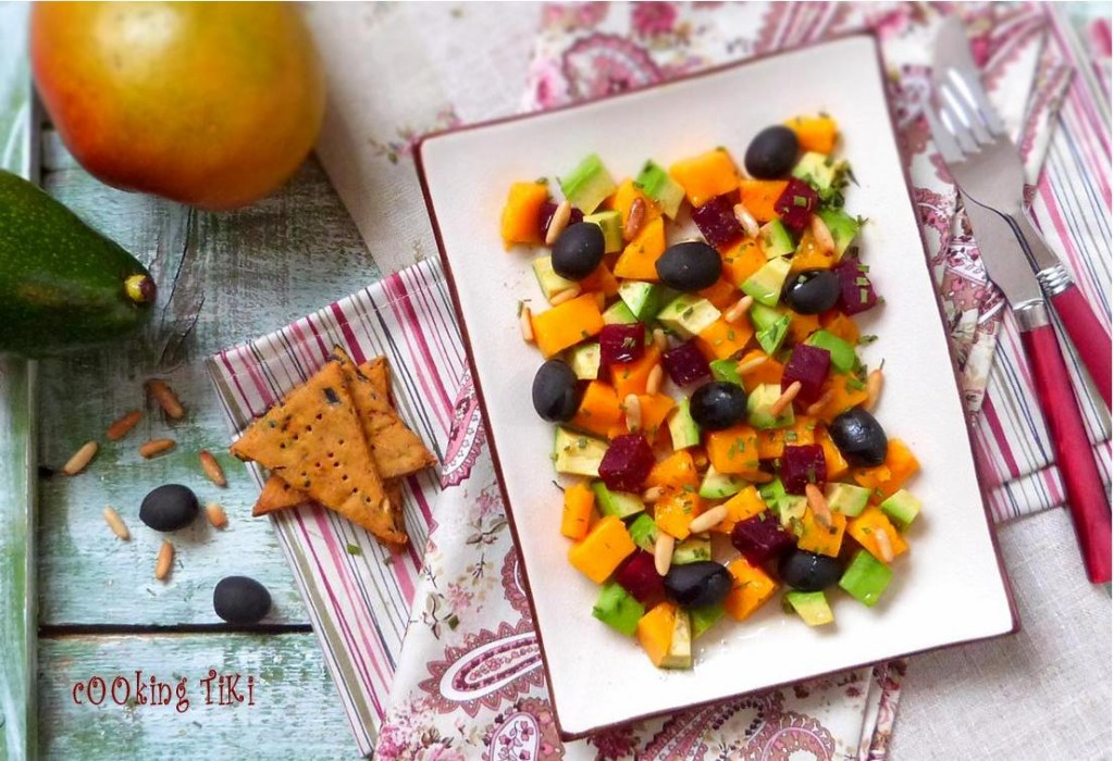 Салата с манго и кедрови ядки1 1024x700 Mango salad with pine nuts