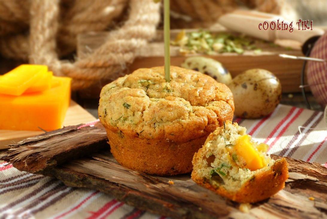 Мъфини с Чедър 1024x685 Leek and Cheddar muffins