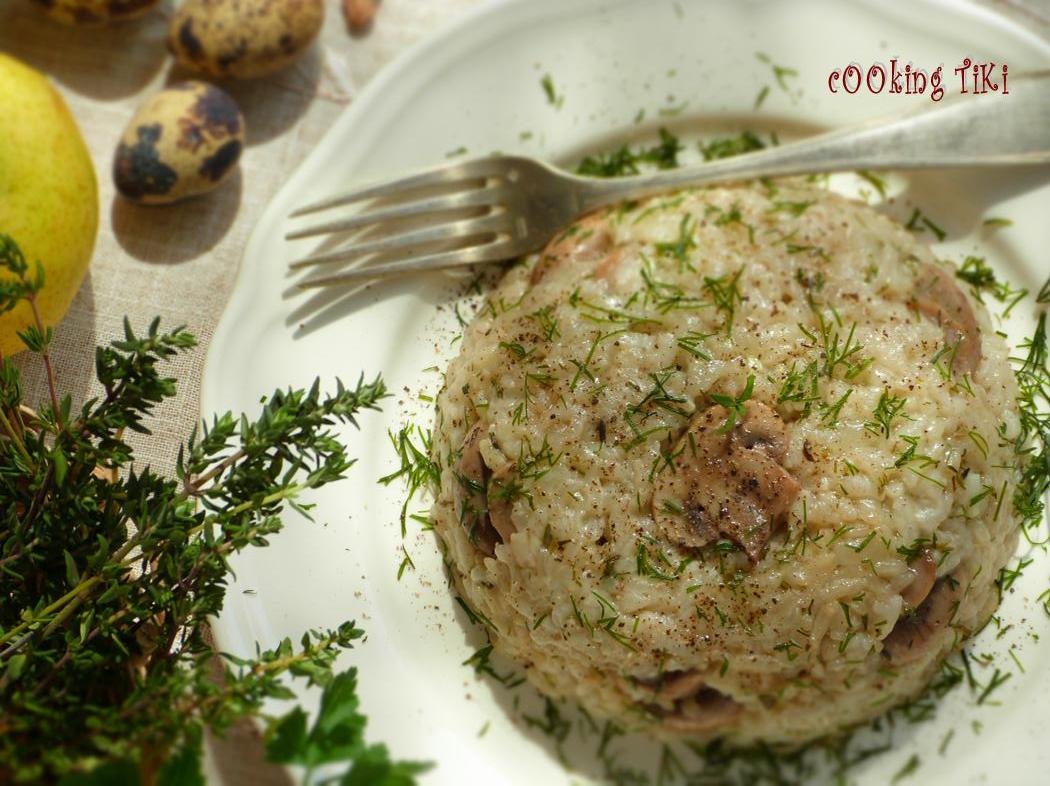Ориз с горски гъбки 2 Vegan wild mushroom rice