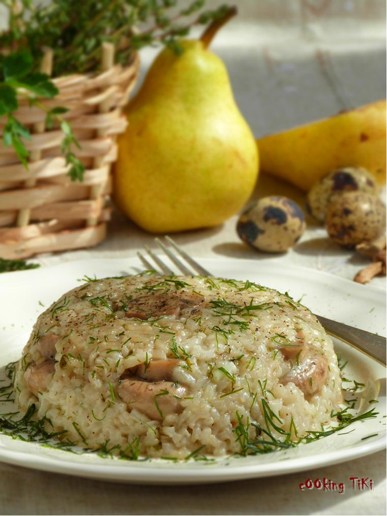 Ориз с горски гъбки Vegan wild mushroom rice