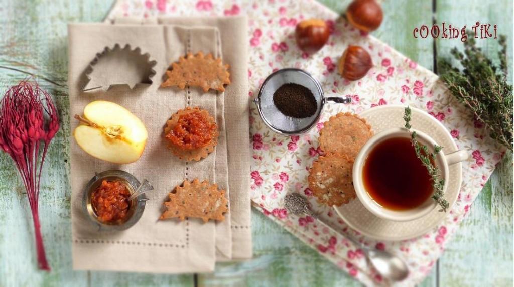 Крекери от кестени с ароматен конфитюр от дюли1 1024x572 Chestnut flour crackers with quince jam