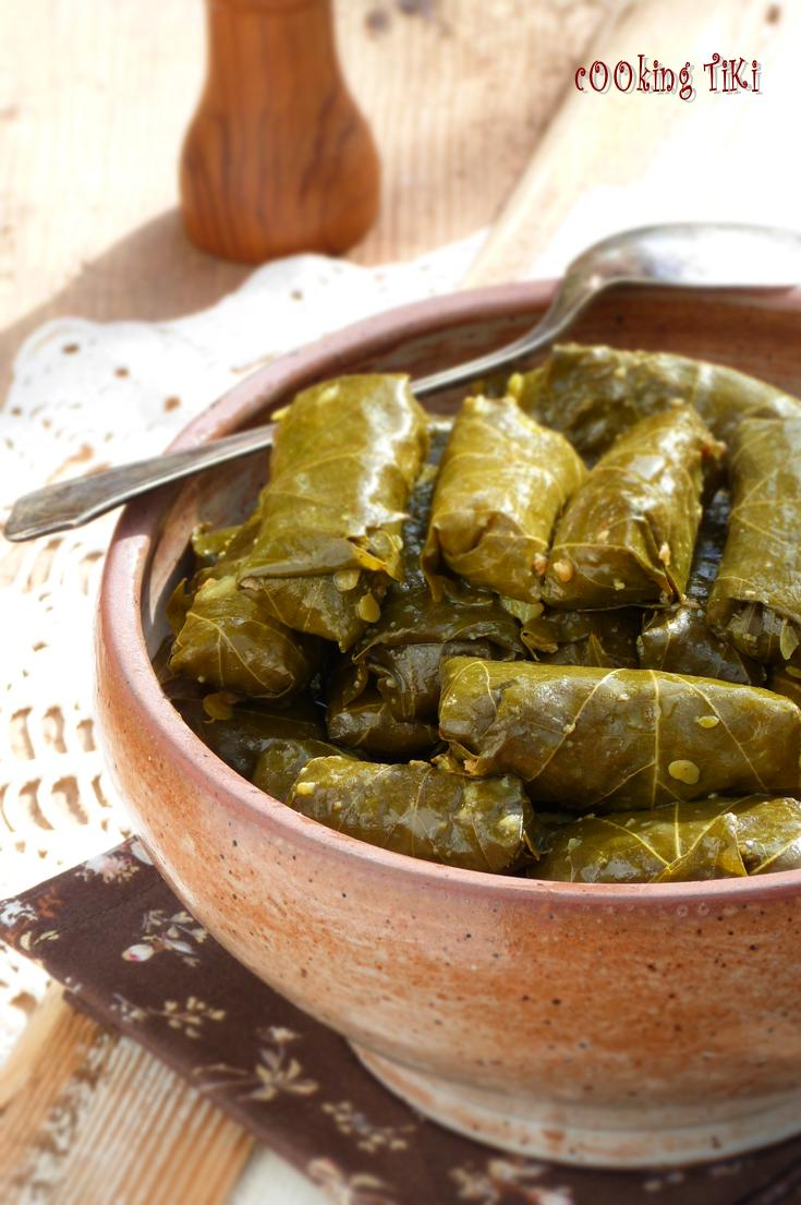 how to serve canned stuffed vine leaves