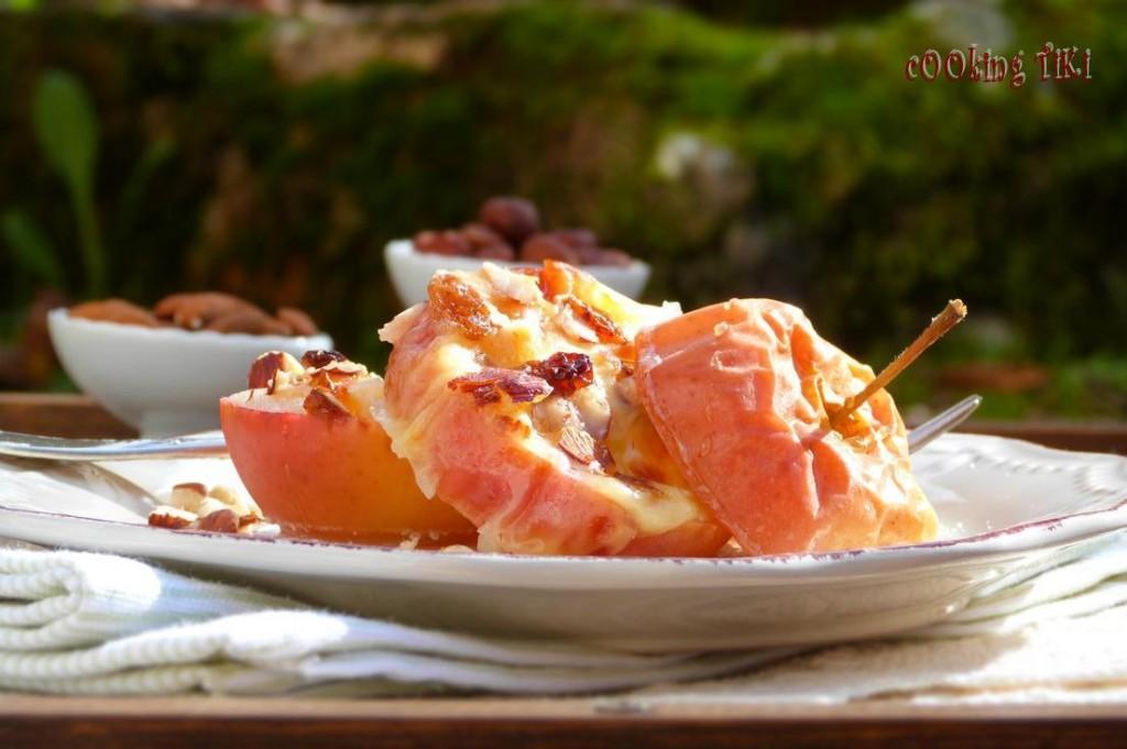 Печени ябълки със сирене и ядки 4 1024x681 Печени ябълки със сирена и ядки