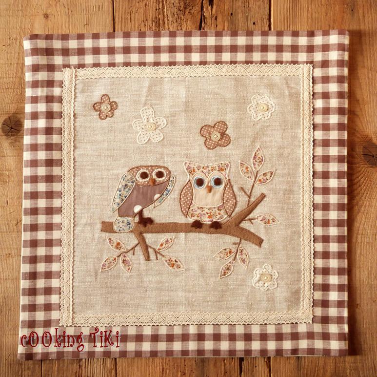 Бухалчета 1 Patchwork cushion   Two owls