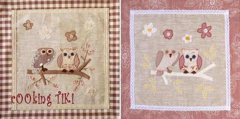 Бухалчета 5 Patchwork cushion   Two owls