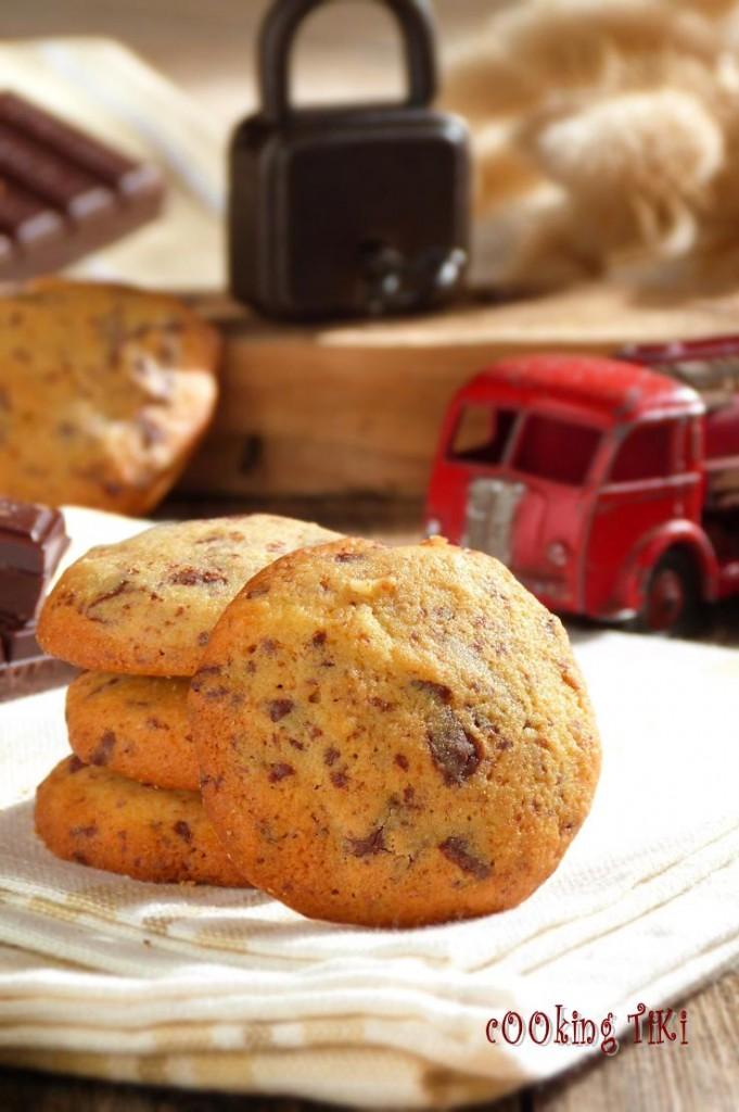 Бисквити с шоколад и орехи 681x1024 Biscuits aux chocolat et noix