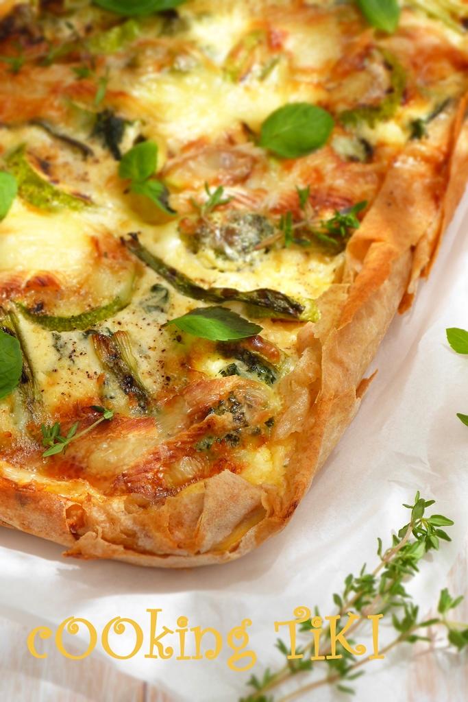 Киш със зелени зеленчуци и кори за баница 3b2 Green vegetable quiche on filo pastry