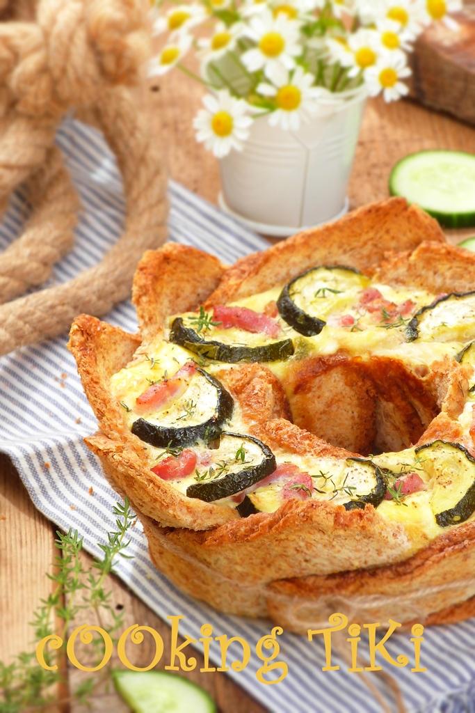Хлебен тарт с тиквички и патладжан 32 Zucchini and eggplant bread tart