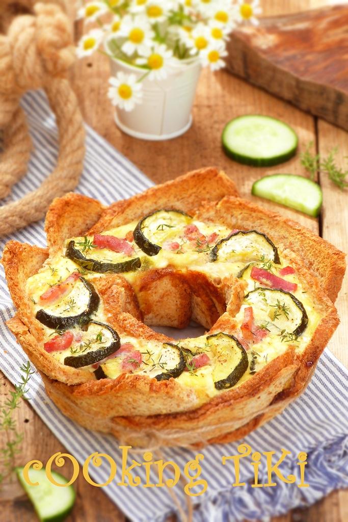 Хлебен тарт с тиквички и патладжан 42 Zucchini and eggplant bread tart