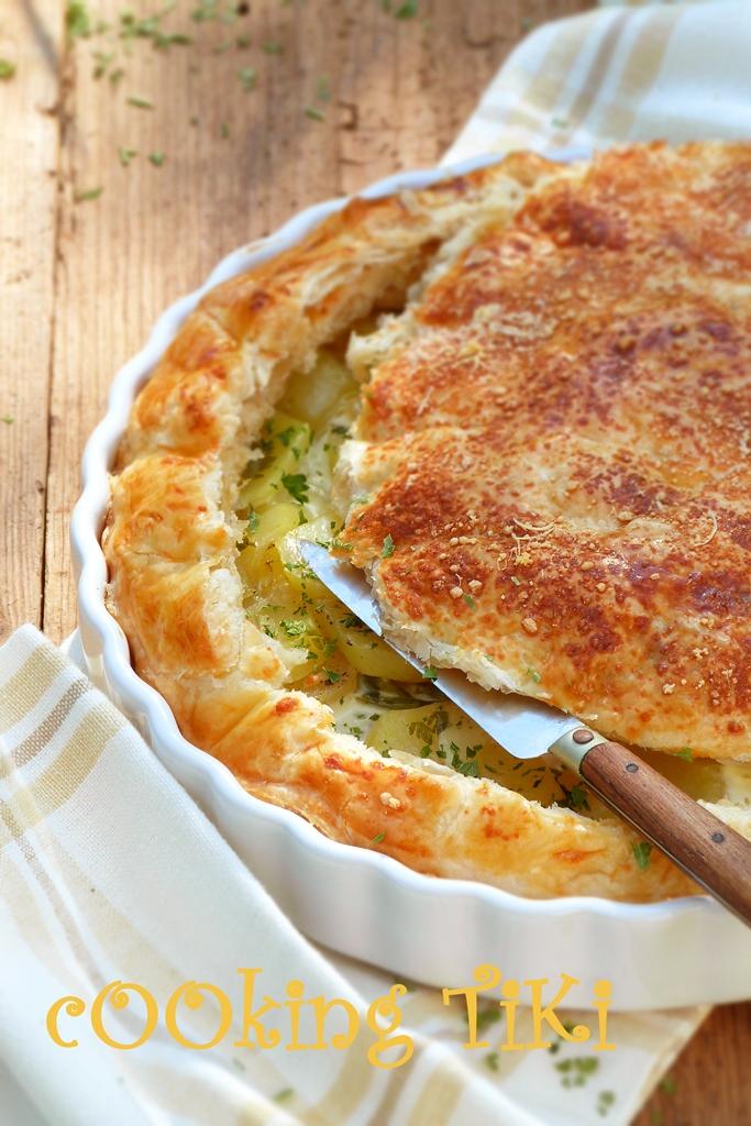 Френски пай с картофи и сметана2 French potato pie