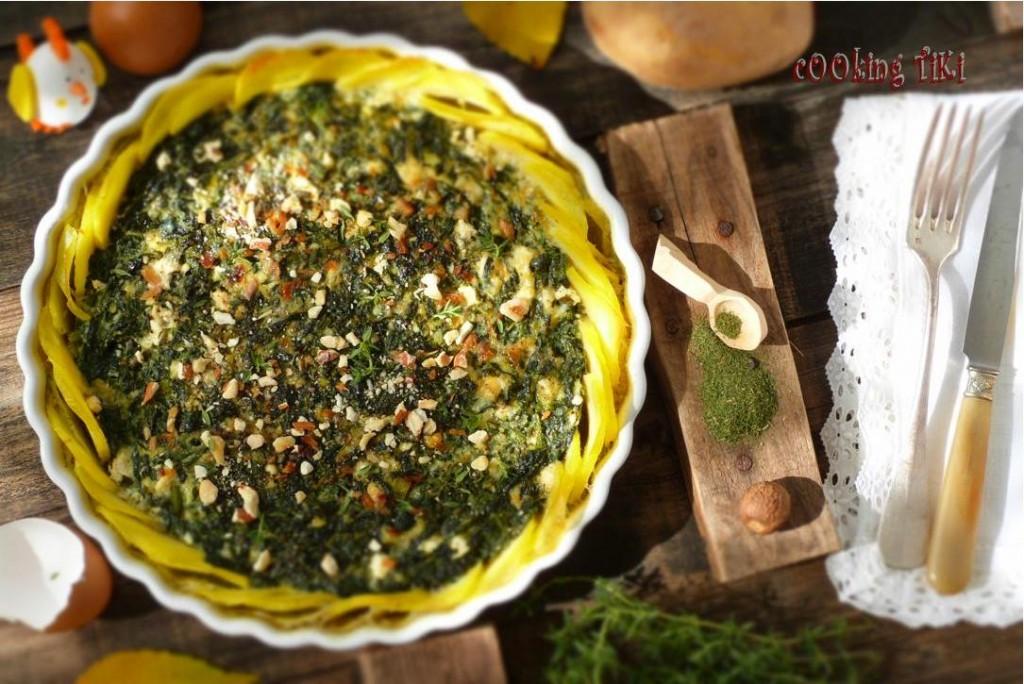 Картофен киш със спанак 1024x684 Potato and spinach quiche
