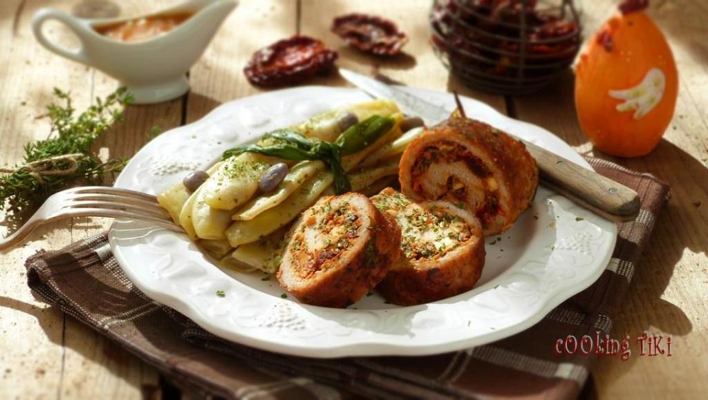 Рулца от свинско месо и козе сирене1 1024x579 Pork rolls with goat cheese