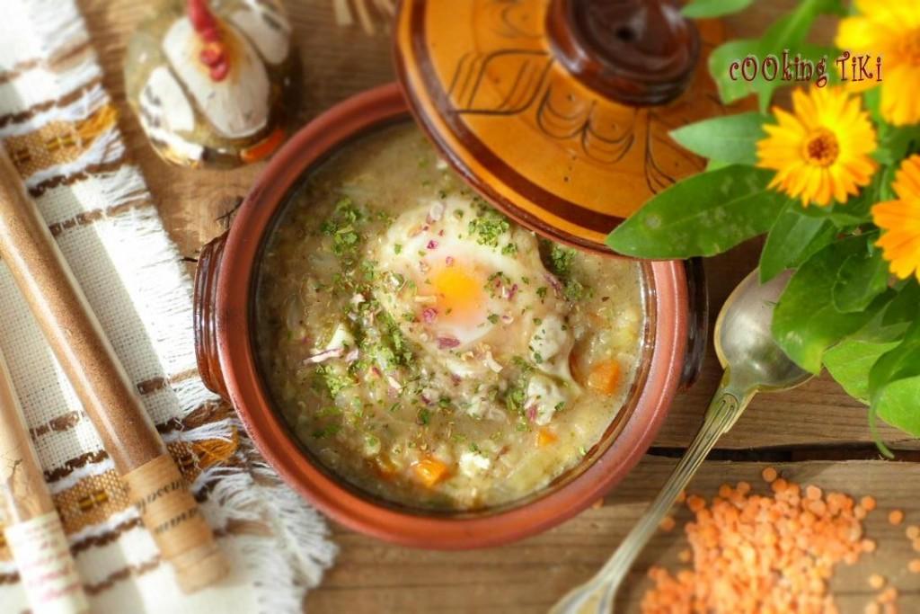 Тажин от леща и поширани яйца 1024x683 Lentil tajine with poached eggs