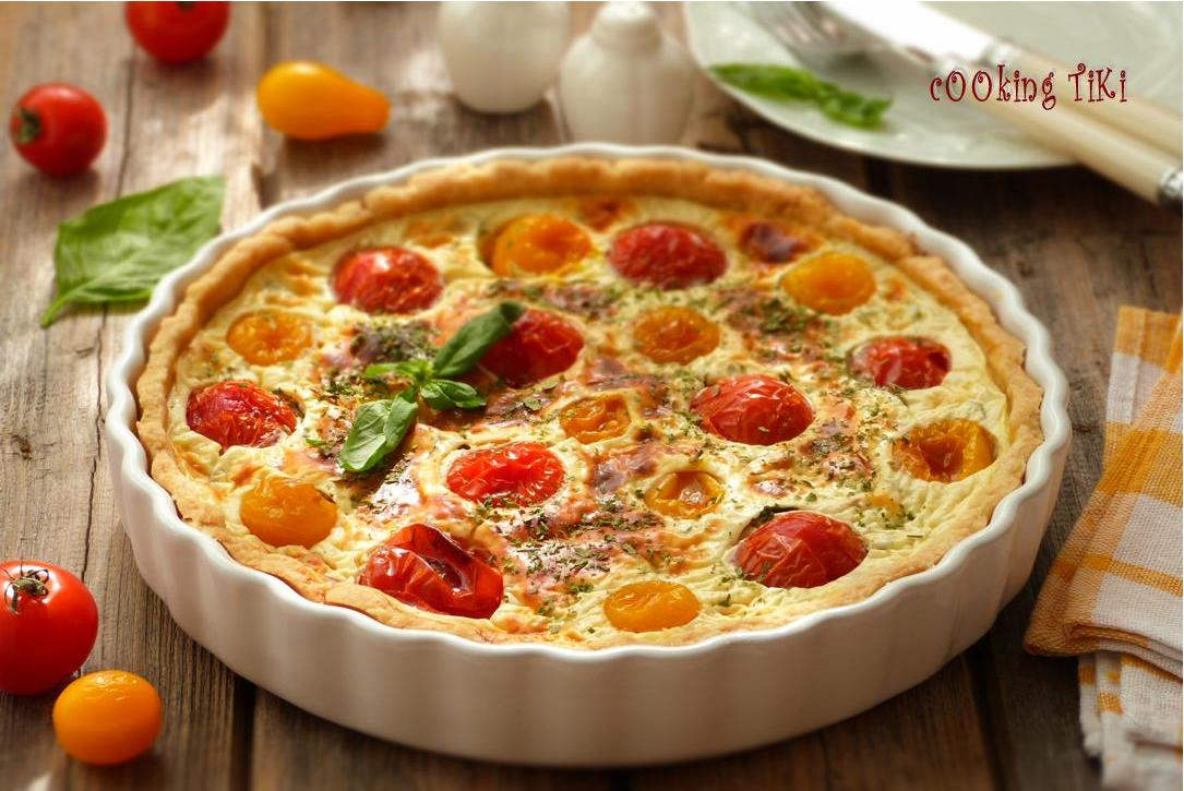 Тарт с чери доматчета Cherry tomato tart