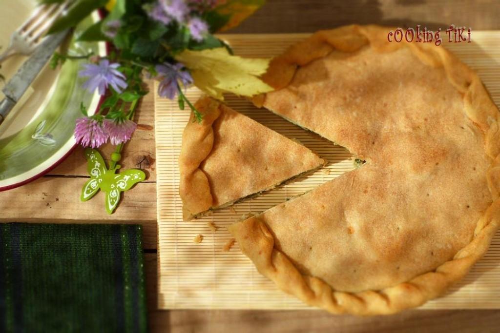Пай с лапад и моцарела 21 1024x683 Dock and mozzarella pie