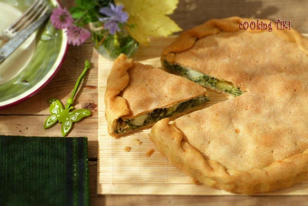 Пай с лапад и моцарела1 1024x685 Dock and mozzarella pie