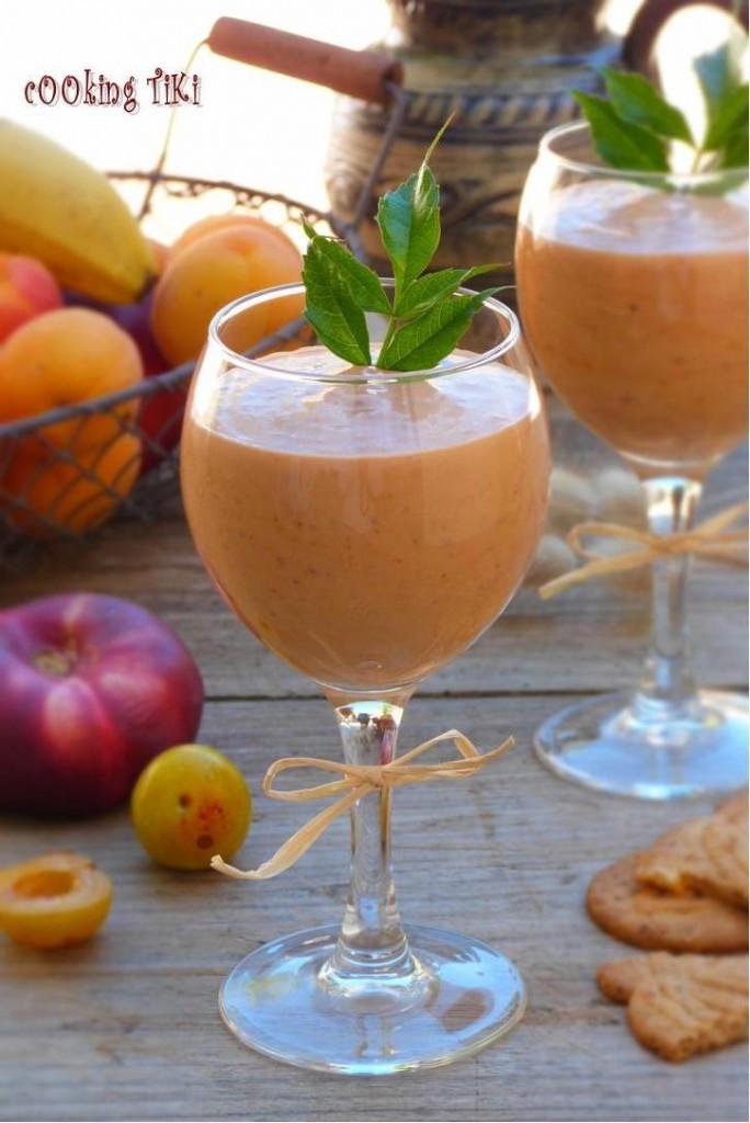 Шейк с джанки и нектарини 21 684x1024 Yellow plum and nectarine milkshake