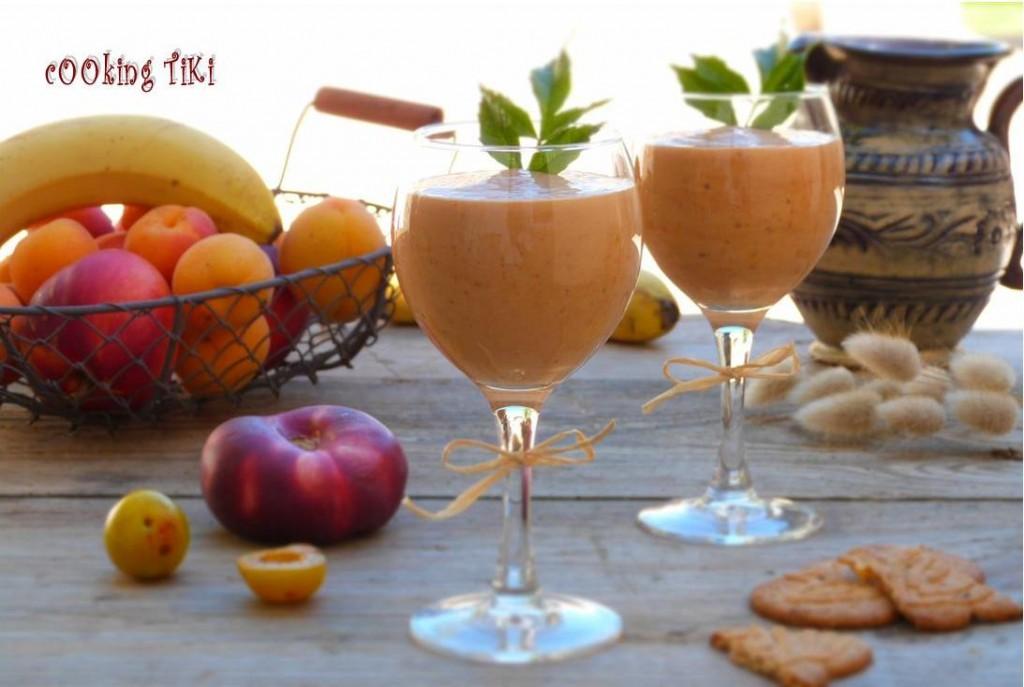Шейк с джанки и нектарини1 1024x687 Yellow plum and nectarine milkshake