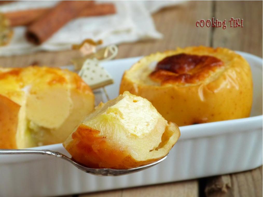 Крем карамел в ябълка 21 Crème caramel in apple gourd