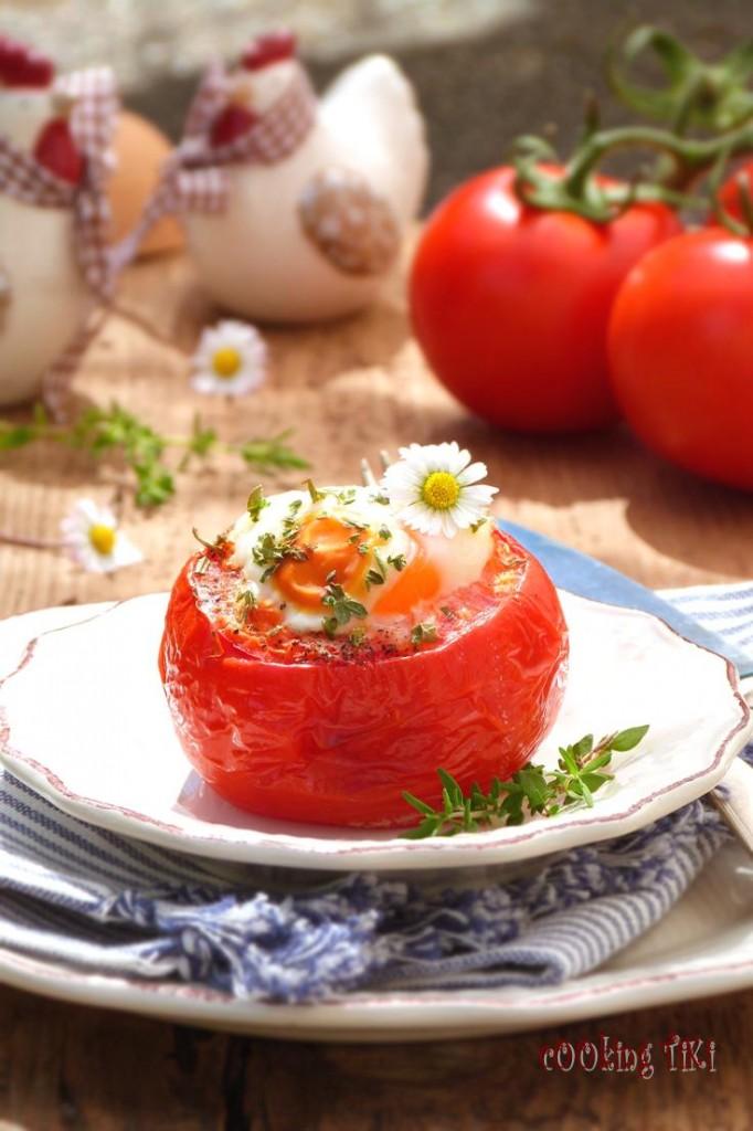 Домати с яйце на фурна 21 682x1024 Oven baked stuffed tomatoes