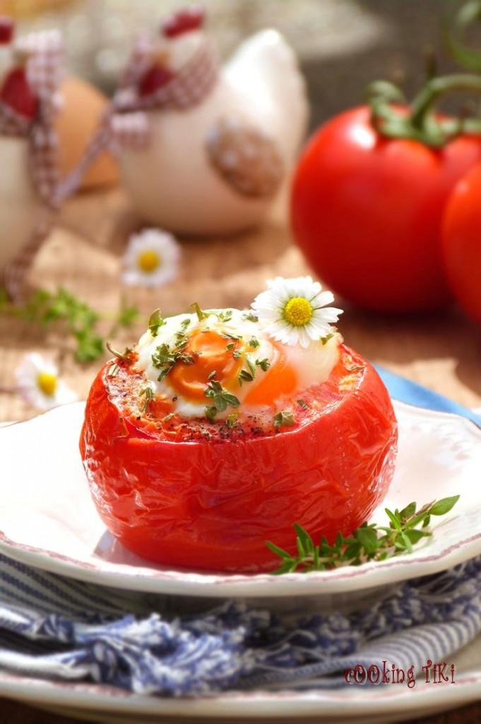 Домати с яйце на фурна1 681x1024 Oven baked stuffed tomatoes