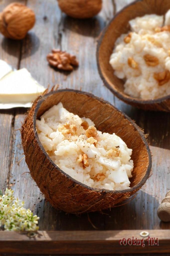 Ризото с кокос и топено сирене2 682x1024 Coconut and melted cheese risotto