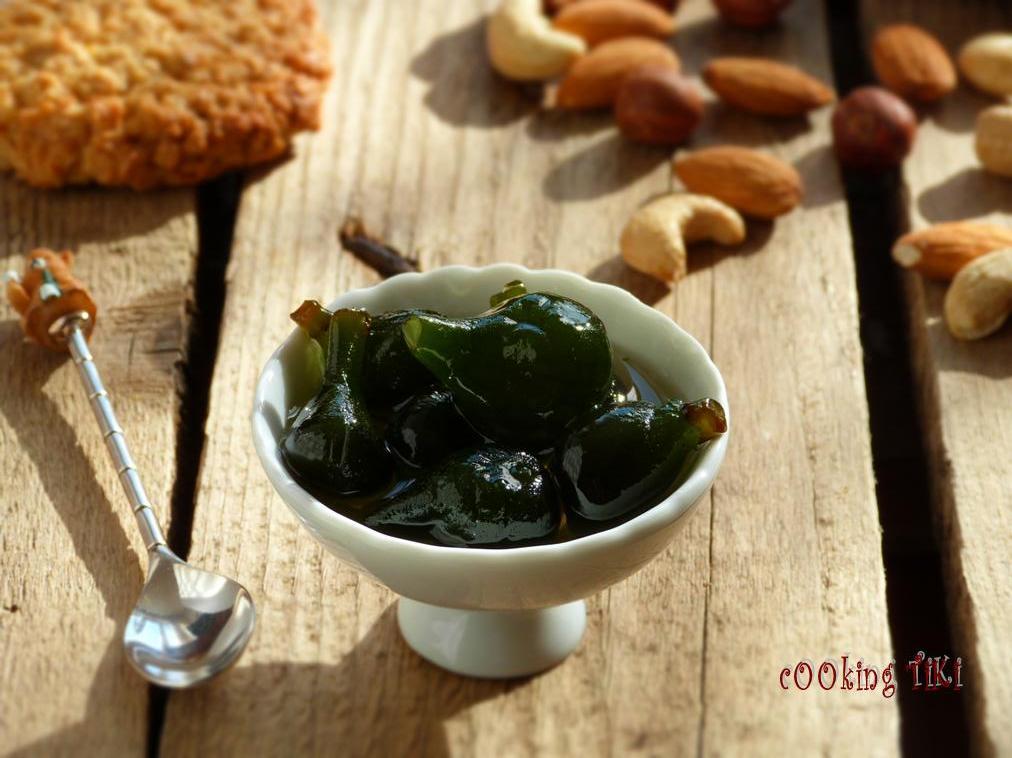 Сладко от зелени смокини1 Green fig jam