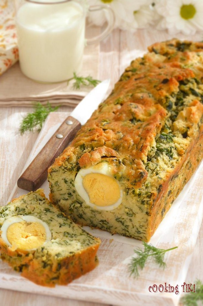 Спаначник с варени яйца3 681x1024 Spinach cake with boiled eggs