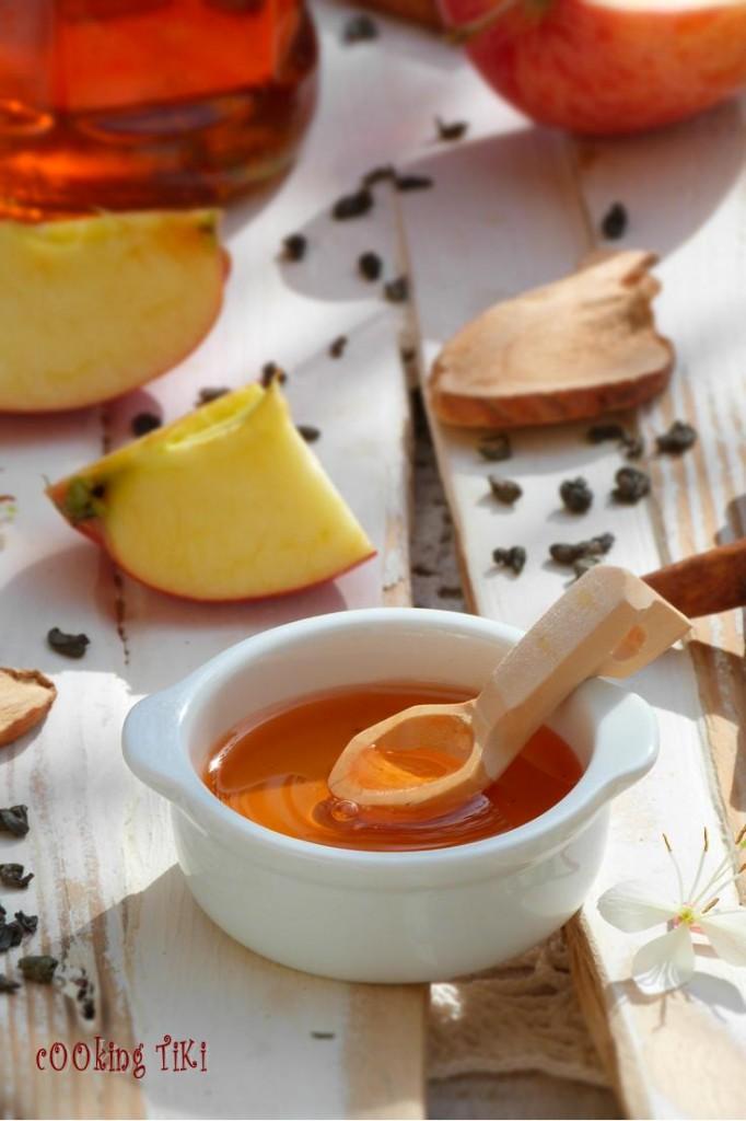 Желе от ябълки и зелен чай2 682x1024 Apple and green tea jelly