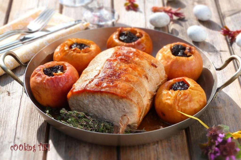 Свинско роти с пълнени ябълки 21 1024x680 Roast pork with stuffed apples