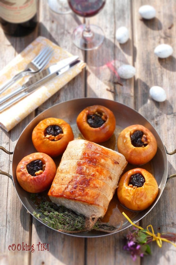 Свинско роти с пълнени ябълки1 681x1024 Roast pork with stuffed apples