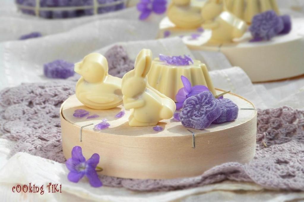 Великденски бонбони с виолетки 22 1024x681 Easter violet chocolates