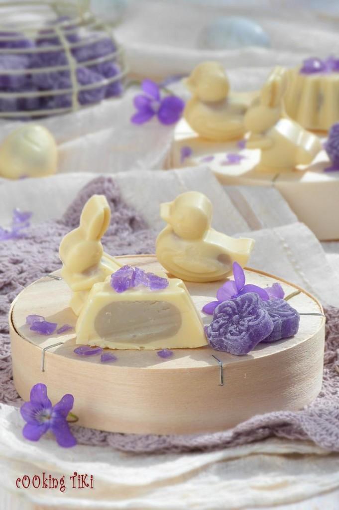 Великденски бонбони с виолетки 32 681x1024 Easter violet chocolates