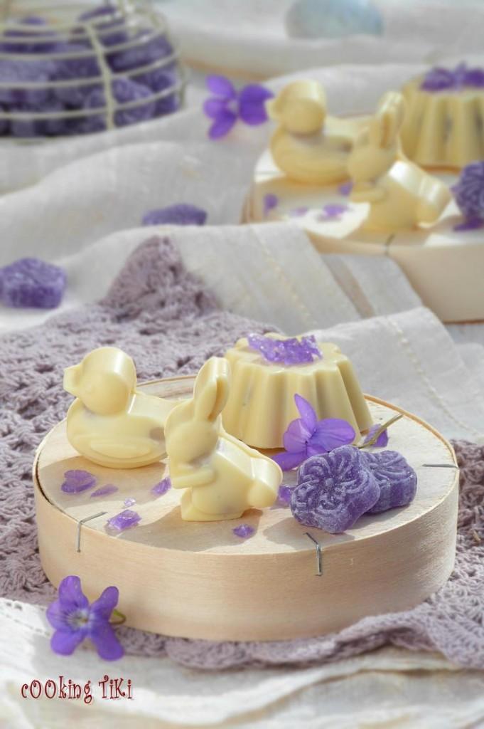Великденски бонбони с виолетки2 681x1024 Easter violet chocolates