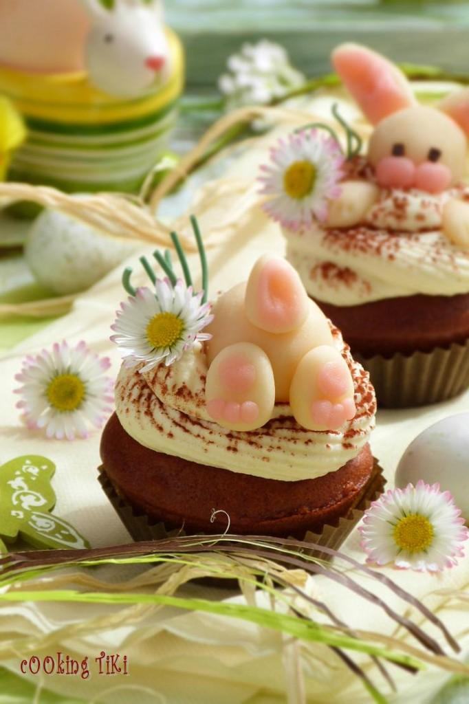 Великденски шоколадово бадемови мъфини2 682x1024 Easter muffins with chocolate and almonds