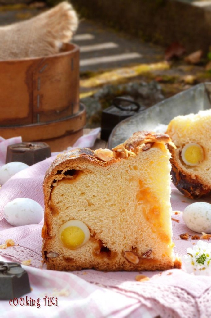 Козунак с карамел и варени яйца 22 681x1024 Easter brioche with caramel and boiled eggs