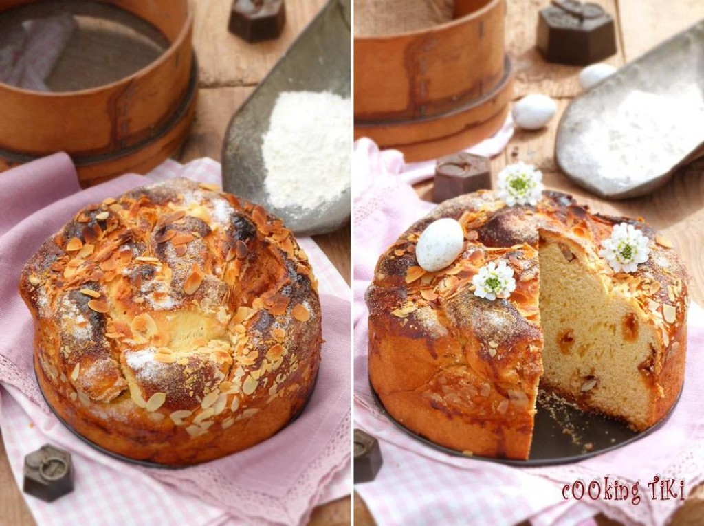 Козунак с карамел и варени яйца 32 1024x765 Easter brioche with caramel and boiled eggs