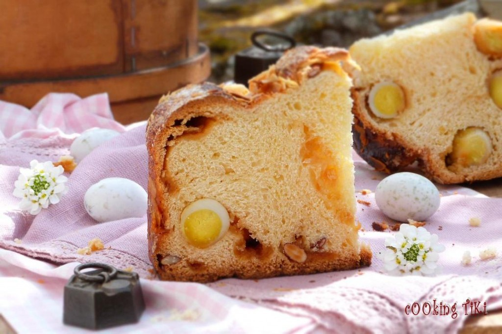 Козунак с карамел и варени яйца 62 1024x681 Easter brioche with caramel and boiled eggs